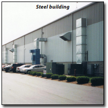 steel and metail building air rotational units